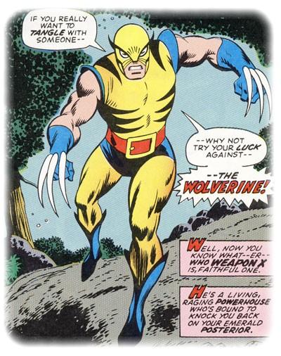 Premi�re apparition de Wolverine dans Incredible Hulk #180